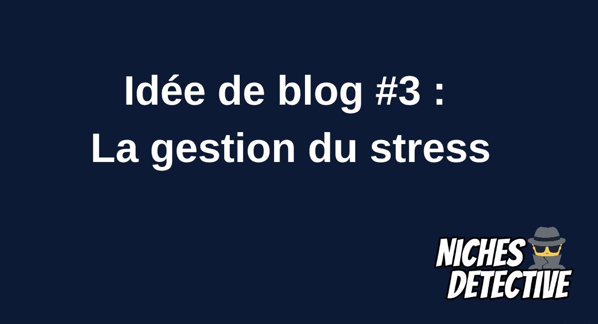 🕵️ Idée de blog #3 : La gestion du stress