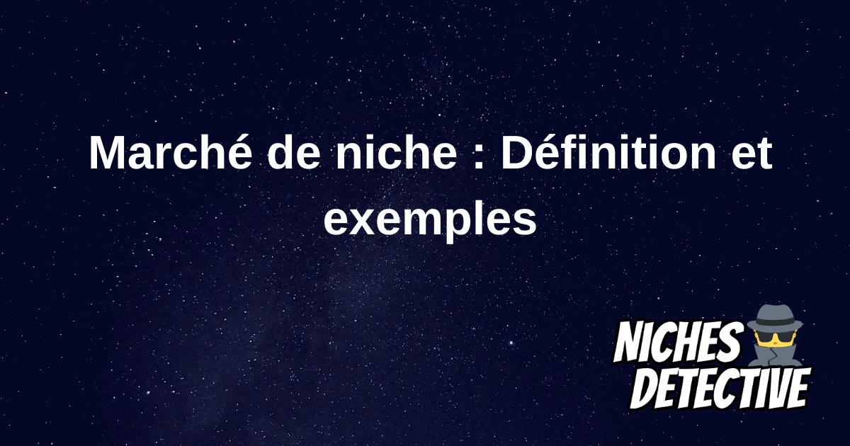 Marché de Niche : Définition et Exemples