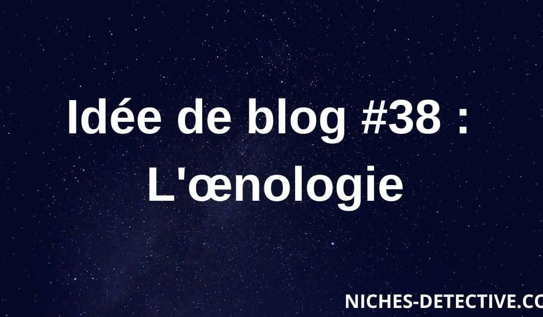 Idée de blog #38 : L'œnologie