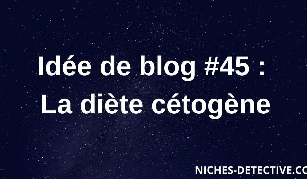 Idée de blog #45 : Le régime kéto