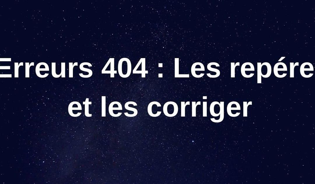 Erreur 404 page introuvable : Comment les corriger ?