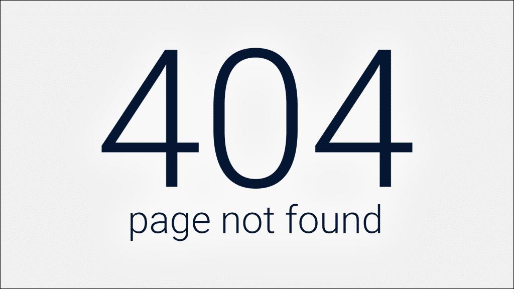 erreur 404 comment la corriger